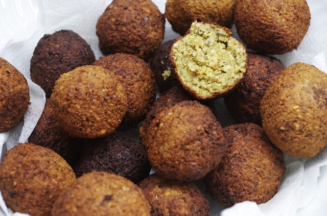 Falafels are a quick protein that can be prepared and frozen for later use